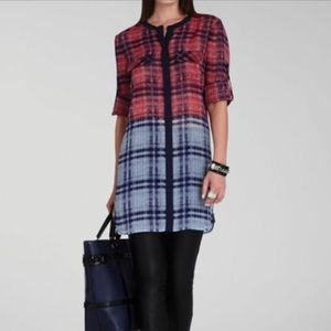 BCBG MaxAzria Silk Shirt Dress